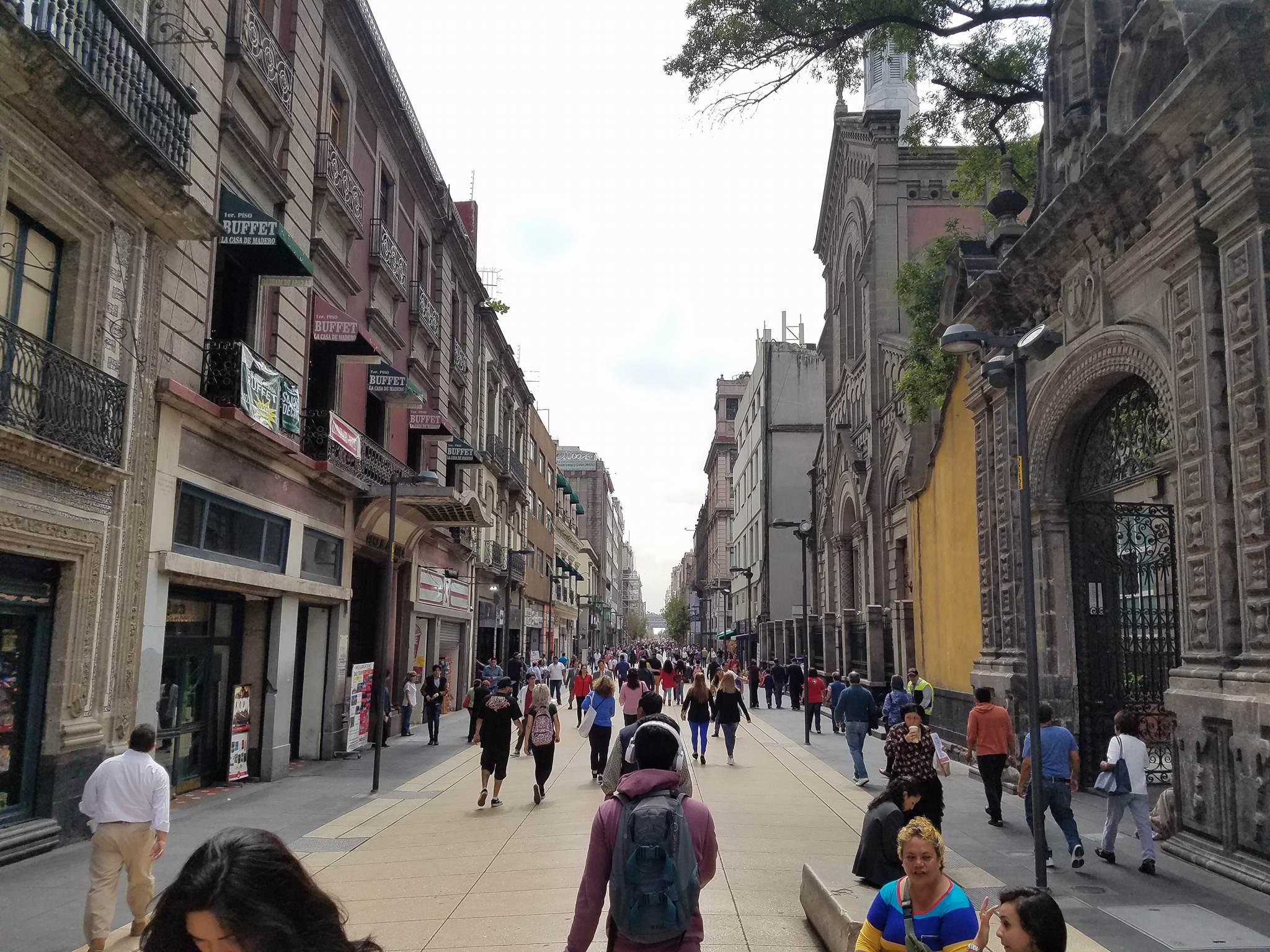 Pedestrian Street in Mexico City