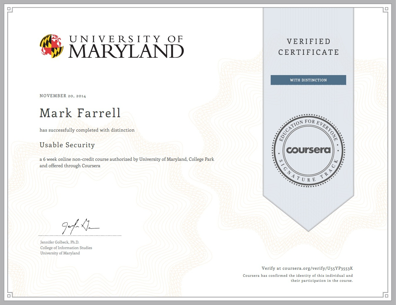 certifications mark p farrell 39 s e