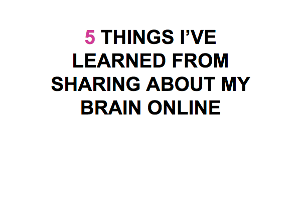Overcoming stigma when blogging about health and illness.