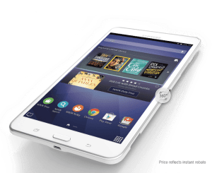 The new Galaxy Tab 4 Nook comes with $250 in free downloads.