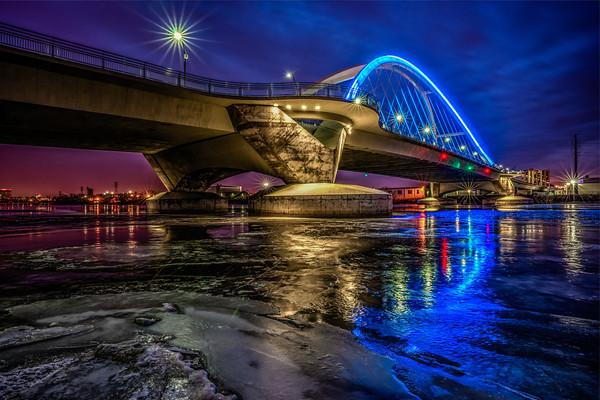 Lowry Avenue Bridge, Ice, Mississippi River, Frozen River