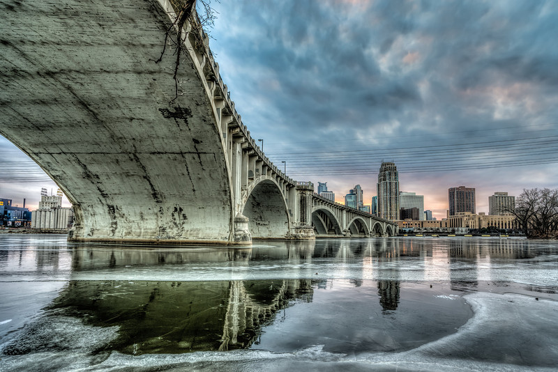 Third Avenue Bridge, HDR, Minneapolis Cityscape