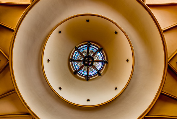 Central Presbyterian Church, ceiling, HDR, St Paul, Minnesota