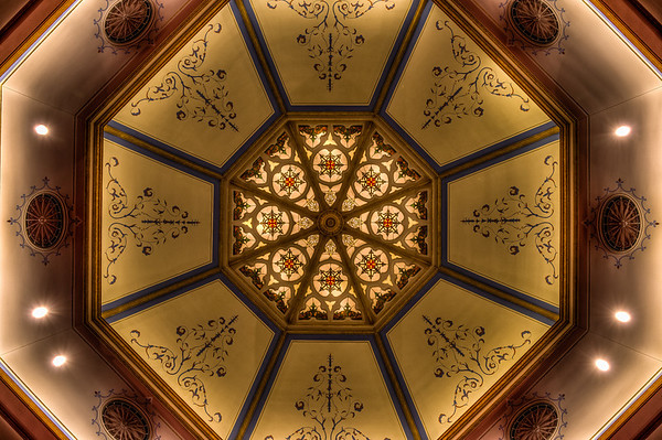 Westminster Presbyterian Church, Minneapolis, ceiling, HDR