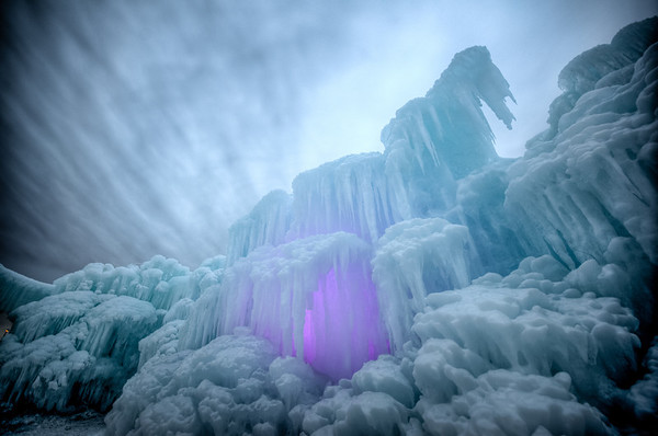Ice Castle, Ice Shelf, Ice, Mall of America, Bloomington, Minnesota, exhibit