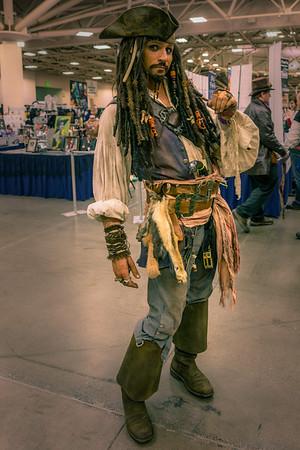 Wizard World Comic Con Minneapolis 2015, Captain Jack Sparrow Costume, Captain Jack Sparrow Cosplay, Pirates of the Caribbean