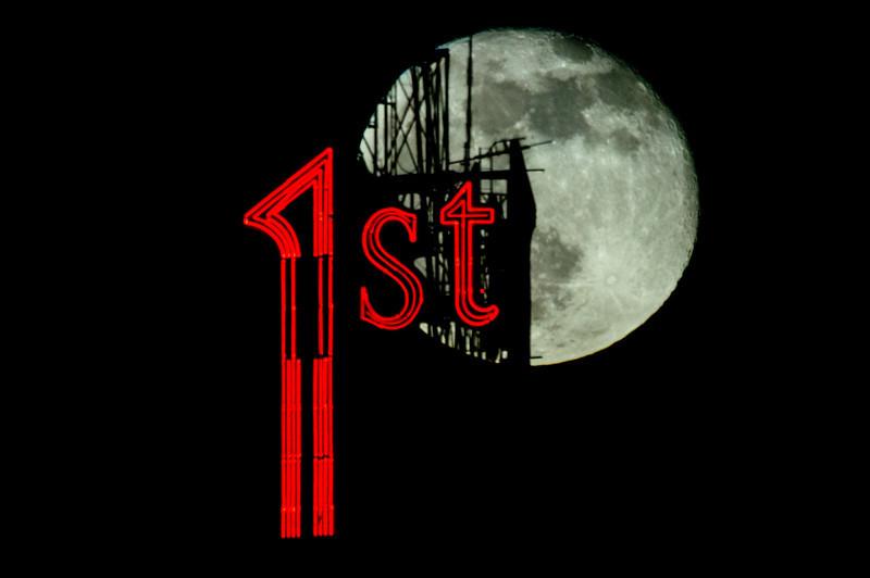 1st Bank, Moon Photo, Moon Silhouette, St. Paul, Minnesota