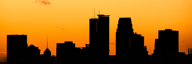 MInneapolis skyline silhouette summer 2011