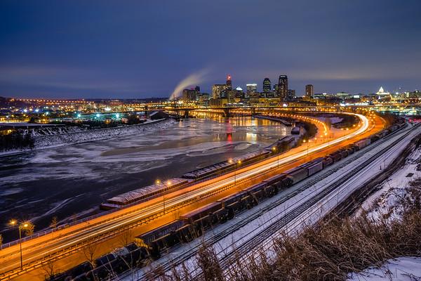 Mounds Park, St Paul, Saint Paul, Mississippi River, River Ice