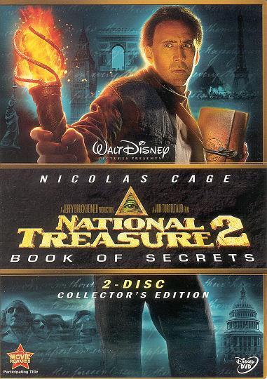 Dvd National Treasure 2 Book Of Secrets Mark R