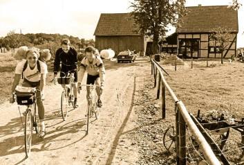 Radfahrer zu Besuch