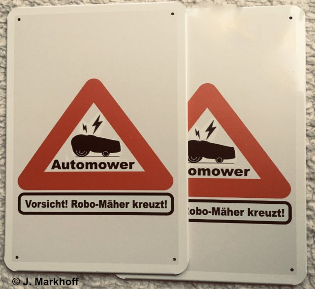 Automower-Warnschild
