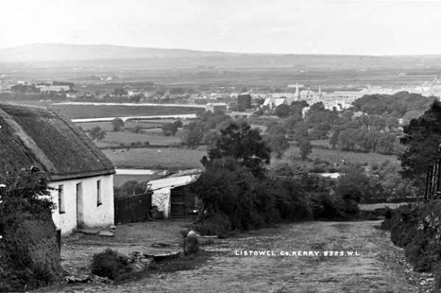 Late 19th century view of countryside near Listowel. Knocanore Hill in the background.
