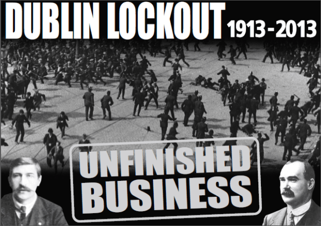 Civil Public & Services Union poster for the lockout centennial.