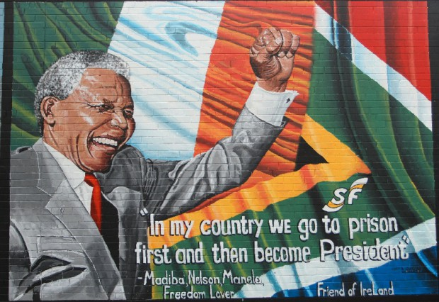 This mural on the Falls Road was unveiled in August 2013.