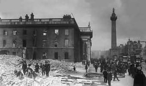 The GPO in the aftermath of the 1916 Easter Rising.