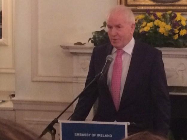 Kerry T.D. Jimmy Deenihan at the Embassy of Ireland in Washington on Jan. 22.