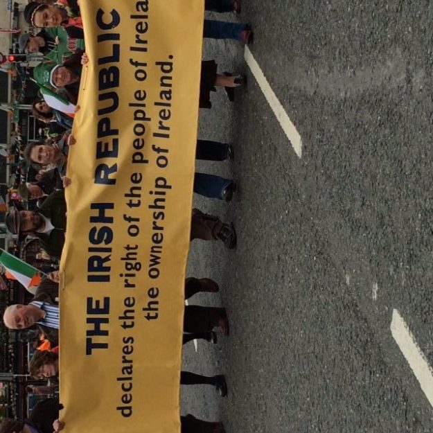 The Irish people commemorated the 1916 Rising on 24 April, then went home and completed their census forms. Photo courtesy of Sr. Cathy Cahill.