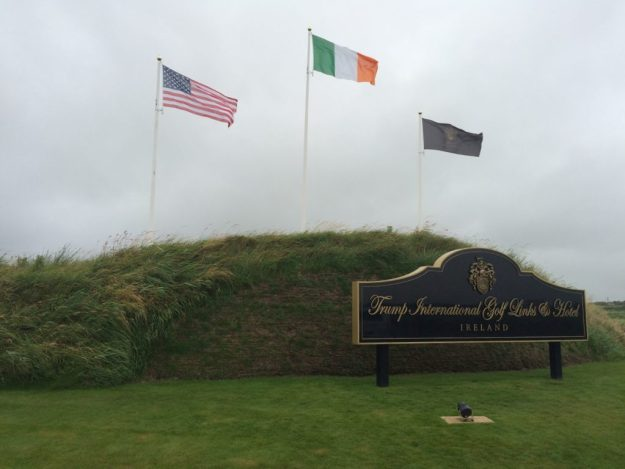 The entrance of Trump's Doonbeg golf course in County Clare during my July visit.