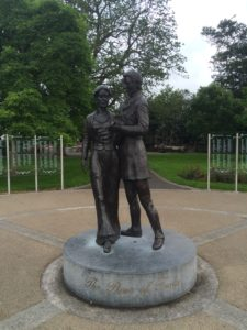 Rose of Tralee statue in Town Park. What if she gets pregnant?
