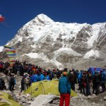 Protests at Everest Base Camp in 2014 caused all expeditions to be cancelled that year