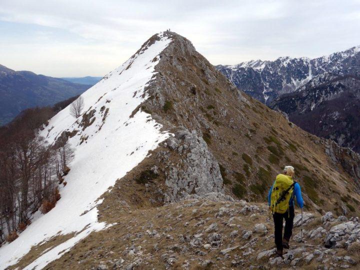 On the summit ridge of Monte Amaro di Opi