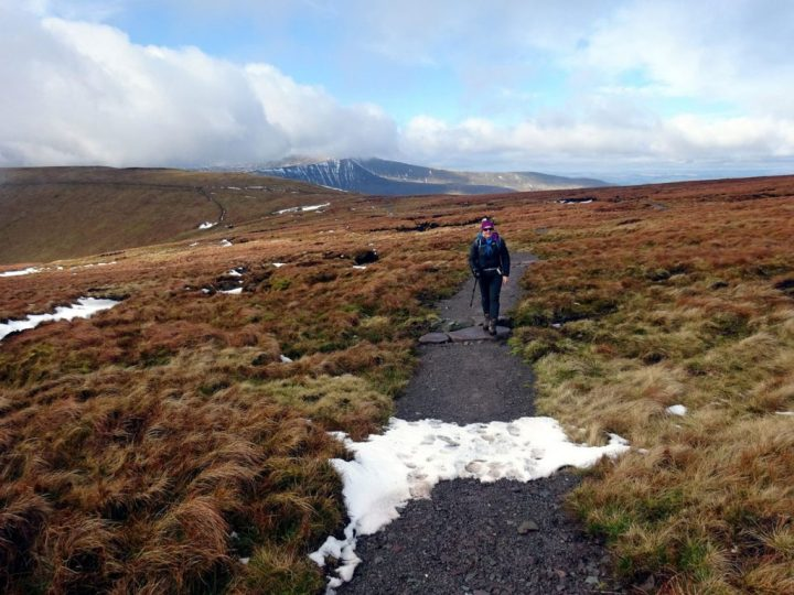 Paths like this, across bogland in the Brecon Beacons, are expensive to maintain