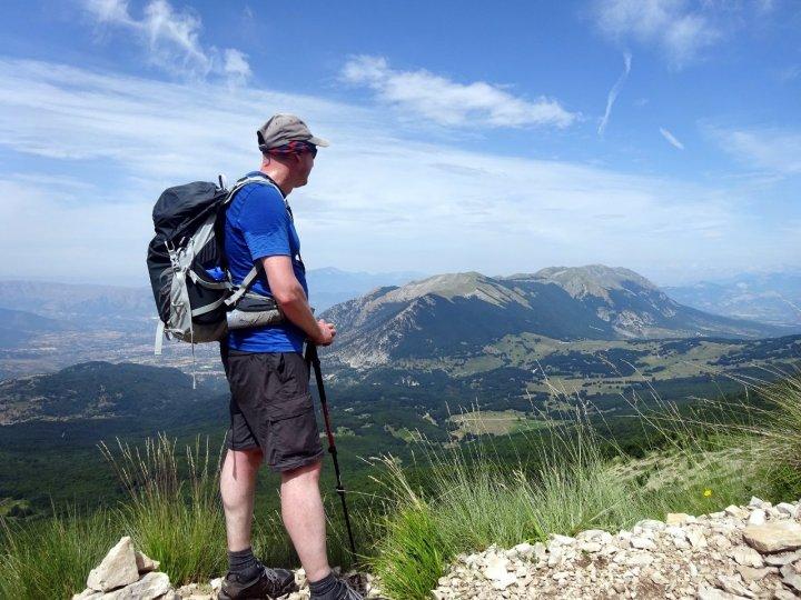 Morrone rises up like an island on the climb up to the Maiella plateau