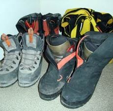4 pairs of mountaineering boots