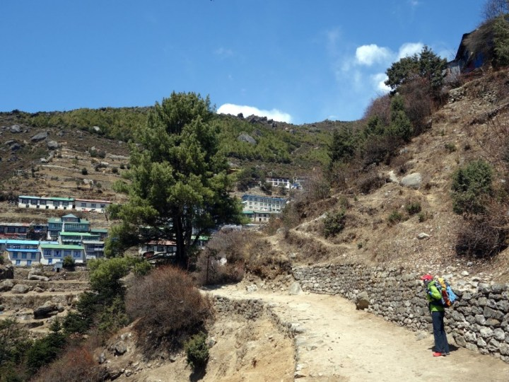 Margaret arrives in Namche Bazaar