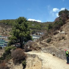 Namche Bazaar and the start of the Everest trail