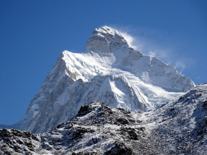 Jannu (7,711m) from beneath the Mirgen La, looking like a severe version of Ama Dablam