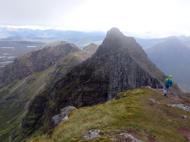 On the summit ridge of An Teallach