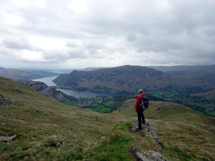 Looking out over Ullswater from Birkhouse Moor