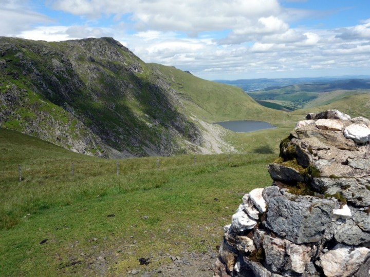 Aran Fawddwy and Creiglyn Dyli from the memorial cairn