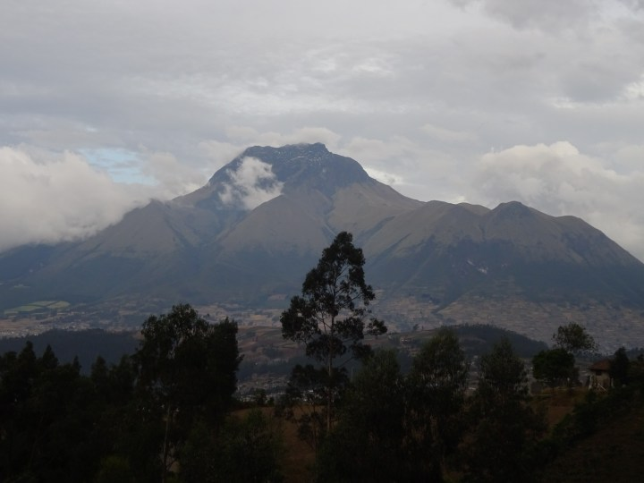Imbabura rises above the town of Otavalo