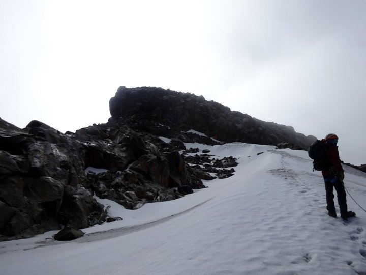 The summit block of Nevado Santa Isabel was rather more than a rocky scramble