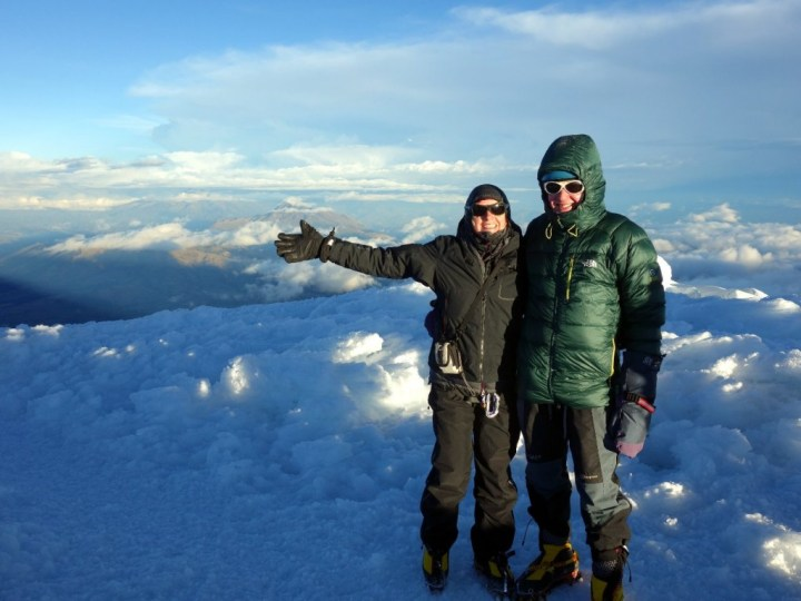Edita and me on the summit of Cayambe