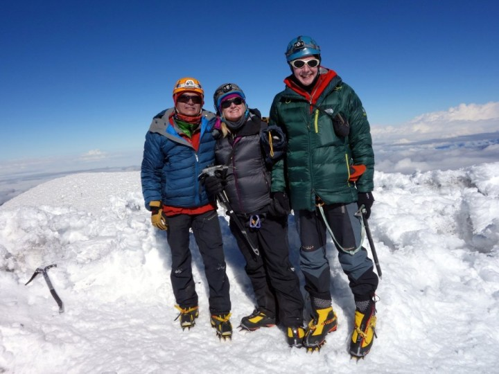 Furthest from the centre of the Earth: Romel, Edita and me on the Whymper summit of Chimborazo