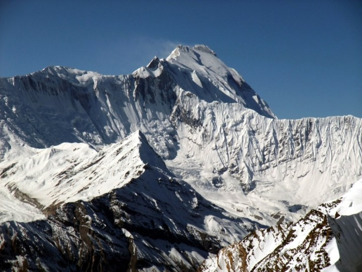 The north side of Annapurna from the summit of Chulu Far East