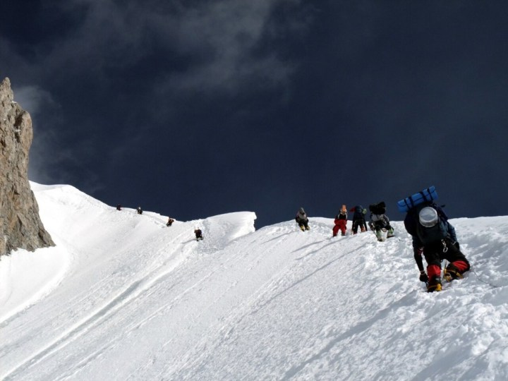 Climbing the Banana Ridge on Gasherbrum II. Hmm, yes, definitely mountaineering.
