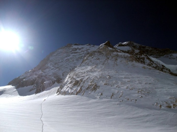 The Japanese Couloir on Gasherbrum I: watching an avalanche come down it was enough for me