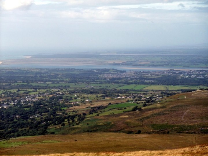 Caernarfon and the Lleyn Peninsula from Moel Eilio