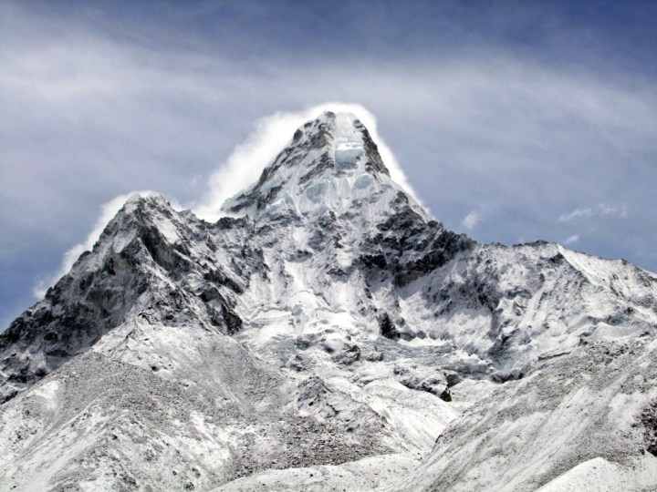 Ama Dablam in the Khumbu region of Nepal is popular among climbers who fancy a steeper mountain than your average Himalayan snow plod