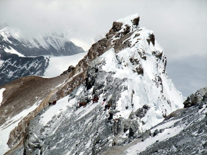 The North-East Ridge of Everest on the day 234 people reached the summit.