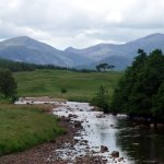 Beinn nan Aighenan and Ben Starav from Victoria Bridge