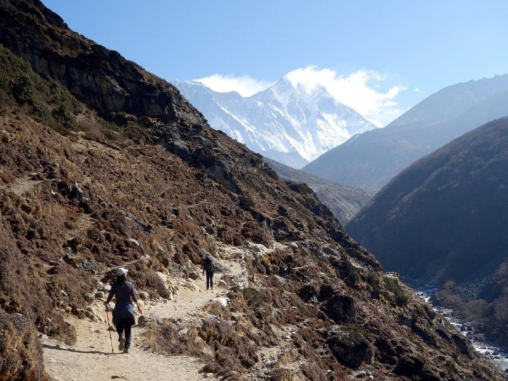 The Everest Base Camp trek takes you through many climate zones as you climb from 2,800m in Lukla to 5,643m at Kala Patthar