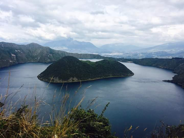 Cuicocha, or the Guinea Pig Lake. The island looks like a guinea pig if you look at it from a certain angle and concentrate hard (Photo: Edita Horrell).