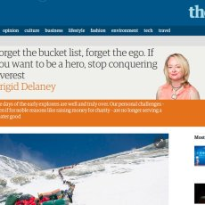 The Guardian prints another self-righteous opinion piece about Everest by some couch potato