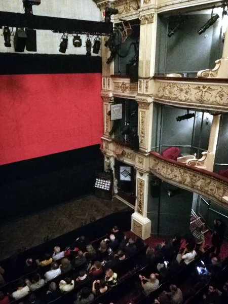 The airy interior of the Duke of York's Theatre lends itself to a play about height